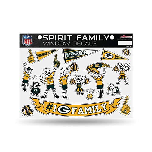 NFL Green Bay Packers Spirit Family Window Decals (Green Bay Packer Window Clings)