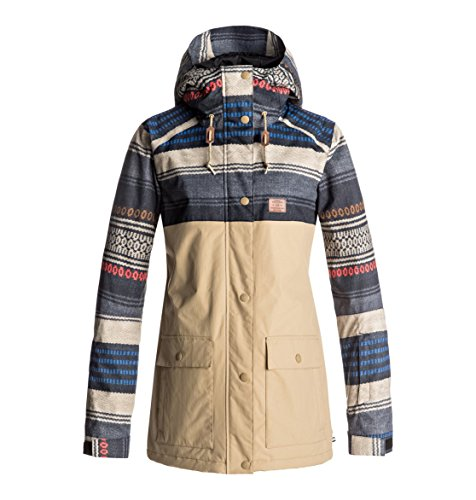 DC Women's Cruiser Tailored Fit Snow Jacket, Poncho Stripe Wms, S