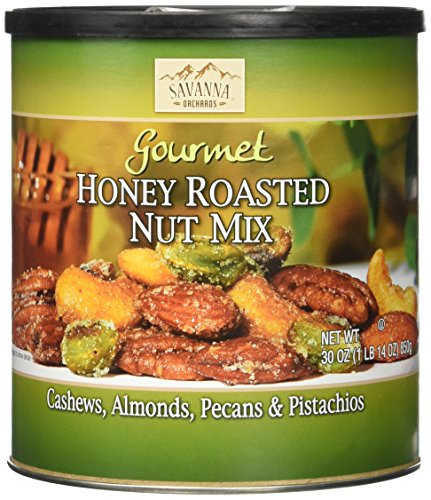 Savanna Orchards Gourmet Honey Roasted Nut Mix - Cashews, Almonds, Pecans and Pistachios (30 oz) ()