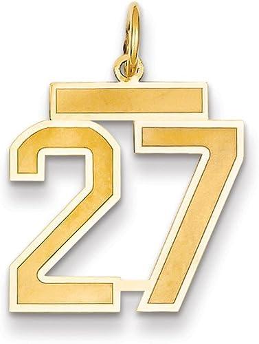 14k Medium Polished Number 9 Charm Best Quality Free Gift Box