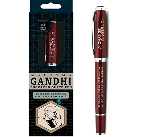 Christmas Gift Ideas For The Office Staff - Mahatma Gandhi Inspirational Quote Pen -