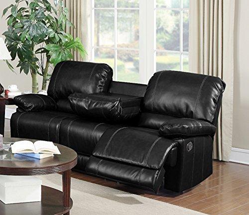 Myco Furniture Derick Motion Sofa, Black