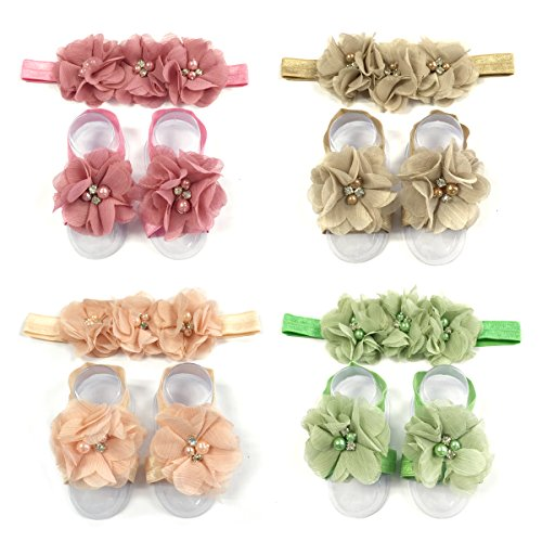AllyDrew-Baby-Girl-Barefoot-Flower-Sandals-Headbands-Set-set-of-4