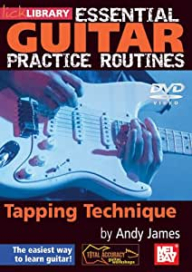 essential guitar practice routines tapping technique andy james movies tv. Black Bedroom Furniture Sets. Home Design Ideas