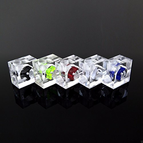 Acrylic Three Way Visual Flow Indicator Splitter G1/4 Thread Gear Color Milk White