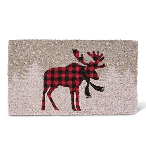 (Abbott Collection Coir Standing Moose Doormat)