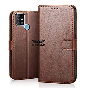 SHINESTAR Infinix Hot 10 Flip Case | PU Leather Flip Cover Wallet Case with TPU Silicone Case Cover for Infinix Hot 10…