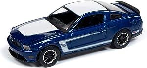 Auto World 64212 1:64 Modern Muscle 2012 Ford Mustang Boss 302 Kon Blue Series A