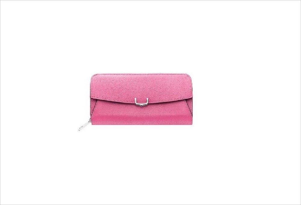 C ドゥ カルティエ 2 Cartier インターナショナル ワレット 長財布 ラウンドジップ B0799N5FWB ピンク ピンク