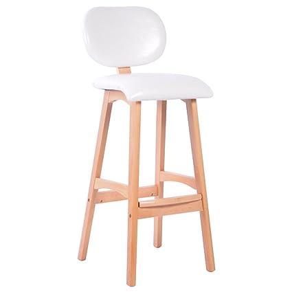 Outstanding Amazon Com Stool High Solid Wood Dark Green White Brown Machost Co Dining Chair Design Ideas Machostcouk