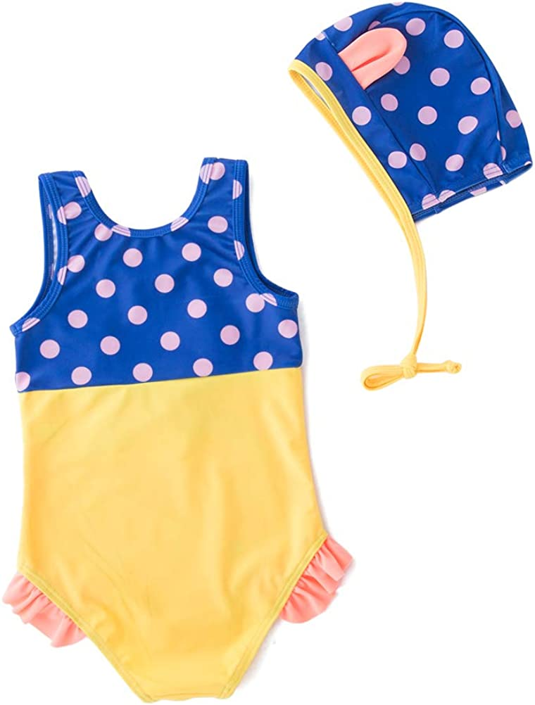 LXKIKMM Mays Baby Girls Cute Fashion One-Piece Swimsuit Beach Swimsuit