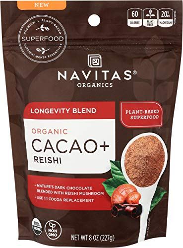Navitas Naturals, Superfood Blend Longevity Cacao Reishi Organic, 8 Ounce