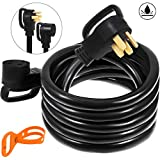 Mophorn 50Ft 50 Amp RV Extension Cord Durable Premium Power Cord RV 30 Amp Extension Cord Copper Wire RV Cord Power Supply Cable for Trailer Motorhome Camper W/Handles