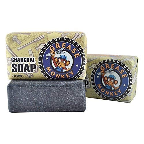 Grease Monkey - Activated Charcoal Soap - Natural - 7 Ounce (Pack of 2)
