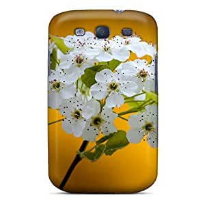 Special Design Back White Flowers Phone Case Cover For Galaxy S3