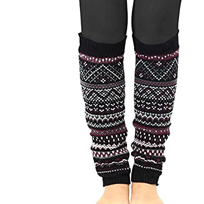 TeeHee Gift Box Women's Fashion Leg Warmers 4-Pack Assorted Colors (Assorted B): Clothing