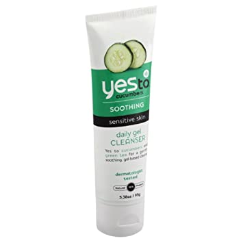 Yes to Cucumbers Soothing Daily Gel Cleanser, Sensitive Skin 3.38 oz (Pack of 2) It Cosmetics Confidence in a Cream Super Cream, Travel Size, .23 Oz