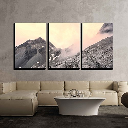 wall26 - 3 Piece Canvas Wall Art - Jade Dragon Snow Mountain Lijiang City, Yunnan China - Modern Home Decor Stretched and Framed Ready to Hang - 24