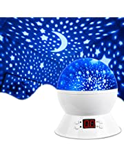 MOKOQI Projector Accessories Lamps Star Projector Night Lights for Kids with Timer, Gifts for 1-14 Year Old Girl and Boy, Room Lights for Kids Glow in The Dark Stars Best Gift-Black