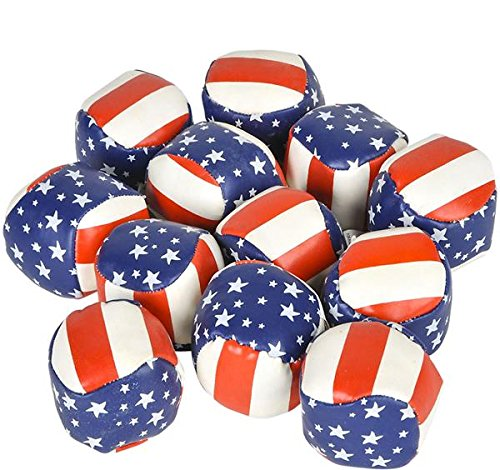2'' STARS AND STRIPES FOOTBAG, Case of 288 by DollarItemDirect (Image #1)