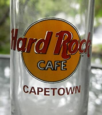 """Hard Rock 4"""" Shot Glass Cape Town South Africa Red Lettering Cordial"""