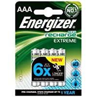 Energizer 800mAh AAA Extreme Rechargeable Batteries (Pack of 8)