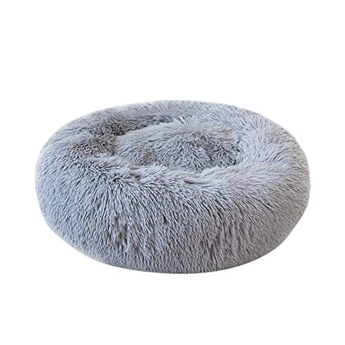 Festnight Haustierbett, Rundes Plüsch-Katzenbett-Hundehaus-Welpen-Kissen-tragbare warme weiche Bequeme Hundehütte…