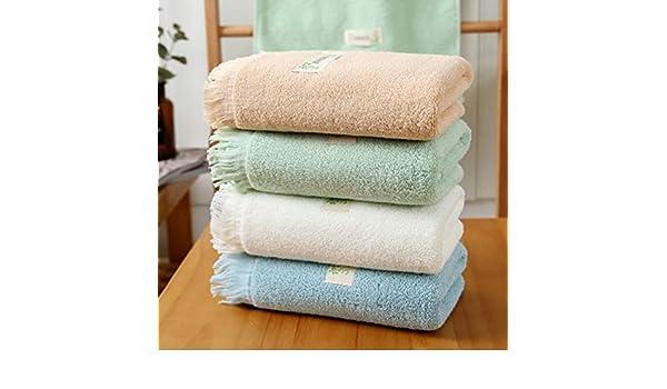 WLLLO 4 Toallas de algodón, Lavados Puros de algodón, ama de casa para Adultos, toallitas absorbentes Suaves de algodón, A: Amazon.es: Hogar