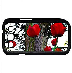 SPRING SHINES (Flowers Series) Watercolor style - Case Cover For Samsung Galaxy S3 i9300 (Black)