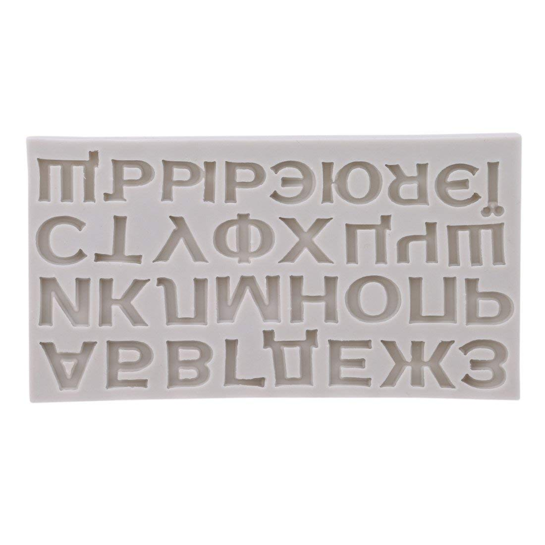 Fliyeong Premium Qualit/ät Russische Alphabet Kuchenform 3D DIY Kuchen Fondant Schokolade Pl/ätzchenform Sugarcraft Dekorieren Form Backenwerkzeuge