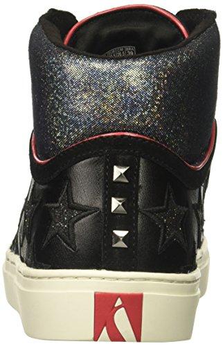 Skecher Straat Vrouwen Zijstraat-glitter Ster Hoge Top Fashion Sneaker Zwart