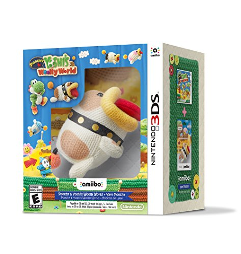 Poochy & Yoshi's Woolly World + Yarn Poochy amiibo - Nintendo 3DS amiibo bundle Edition