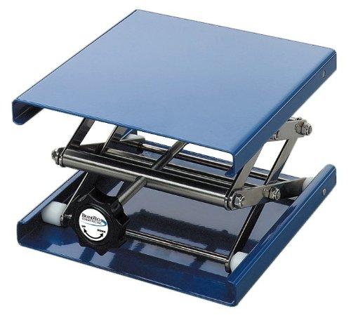 BrandTech B11016 Aluminum Anodized Laboratory Support Jack, 10cm Length x 10cm Width Plate Size, 12cm Maximum (10 Cm Solid Block)