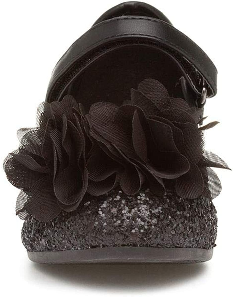 Lilley Sparkle Girls Glitter Party Shoe in Black Size