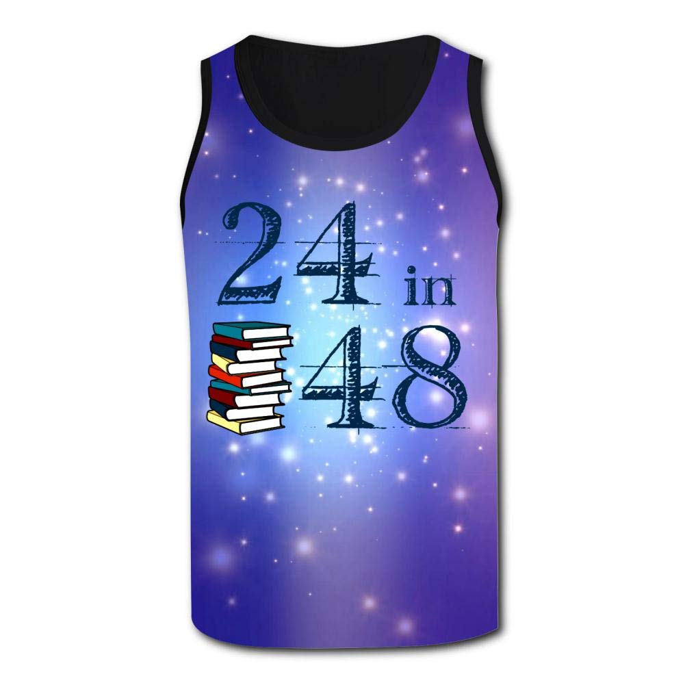 Mens Outdoor Sport The 24in48 Logo Tank Top Vest T-Shirt Fast Drying Stylish Sleeveless Tee