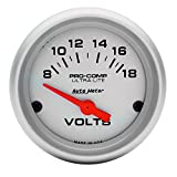 Auto Meter 4391 Ultra-Lite Electric Voltmeter Gauge