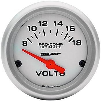 amazon com auto meter 4497 ultra lite in dash electric tachometer auto meter 4391 ultra lite electric voltmeter gauge