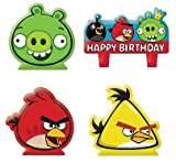 Amscan Angry Birds Molded Cake Candle Set, Health Care Stuffs
