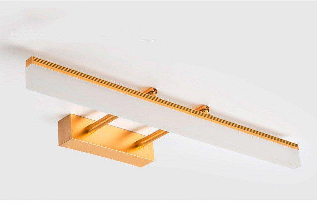 badezimmerlampe LED-Spiegel-Lichter, einziehbares Arm-Kabinett beleuchtet Badezimmer-wasserdichte Nebel-Spiegel-Kabinett-Lichter (Farbe   Warmes Licht-8w 40cm)