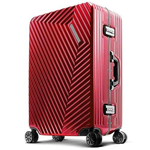 旅のセレクトショップ!DESENO SORT スーツケース 赤 Sサイズ 軽量 アルミフレーム TSAロック搭載 機内持ち込み可 出張 修学旅行 小型 小旅行   B07BF4K2QV