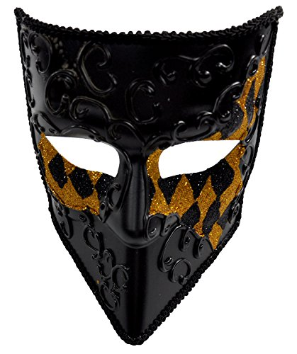 Kayso Men's Demon Warrior Masquerade Mask Gold (New Orleans Costume)