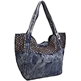 Donalworld Women Casual Denim Shoulder Bag Tote Handbag Pattern4