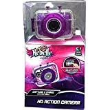 Nerf Rebelle Purple 5.1 Megapixel HD Childrens Action Sports Camera kit with Waterproof Housing Helmet Bike Mount and Nerf Blaster Mount