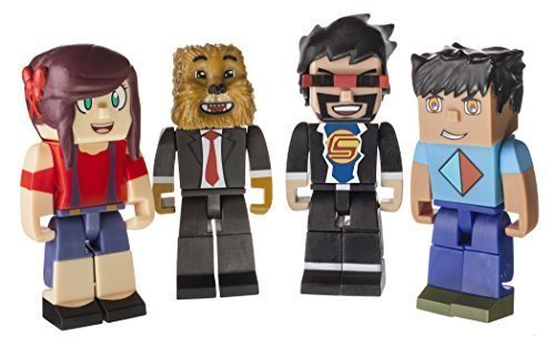 Tube Heroes AshleyMarieeGaming, JeromeASF, CaptainSparklez & Vikkstar123 Action Figure 4-Pack by Jazwares by Jazwares