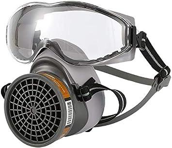 WUAZ Face Shield, 1 Juego De Máscara De Gas De Media Cara con Gafas Protectoras, Máscara Química contra El Polvo, Filtro De Protección Respiratoria para Pintar