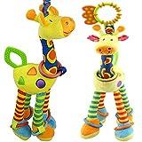 7 month old baby girl - FOREAST Kids Handbells Rattles Toy Baby Soft Plush Toys Developmental Infant Birthday Present
