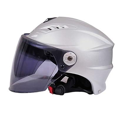YSH Casco De La Motocicleta Casco De Scooter Unisex De Verano Protección UV A Prueba De