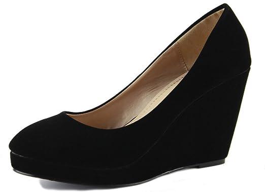 b5b22a1a56a0b Womens Wedge Shoes Wedges High Heels Platform Court Pumps Formal Evening  Size 3-8