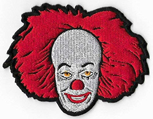 Pennywise Clown Patch (3.5 Inch) Horror Embroidered Iron / Sew on Badge Stephen King IT DIY Applique by Karma Patch (Patch Stephen King)