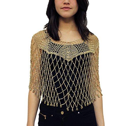beaded crochet dress - 4